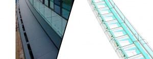 Imagen barandilla construida      Imagen barandilla en modelo BIM (LOD 400)