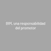 BIM, una responsabilidad del promotor