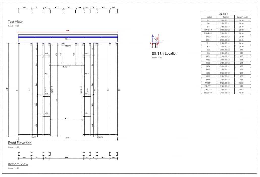 Imagen SFS Shop Drawing