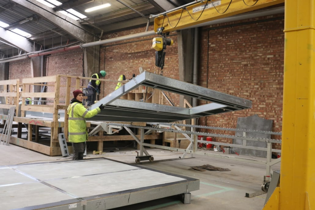 Imagen fabricación de paneles SFS