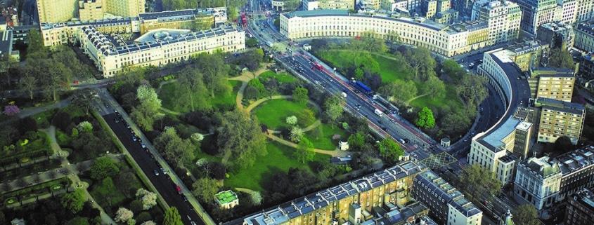Imagen aérea proyecto Regent's Crescent 12 (destacada)